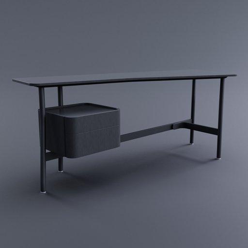 Thumbnail: L40 Sled Desk (Left Drawer)