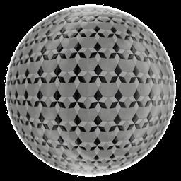 Thumbnail: Ornamental floor tiles black and white