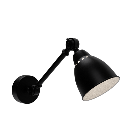 Thumbnail: Black wall light industrial metal