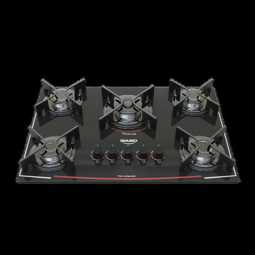 Thumbnail: Cooktop 5 burners Dako Glass Black