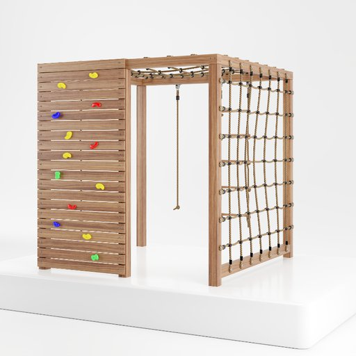 Thumbnail: Playground wooden climbing tower