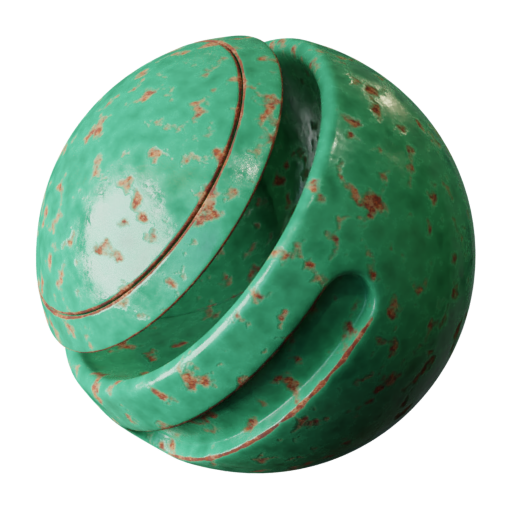 Thumbnail: Rusty painted metal - green