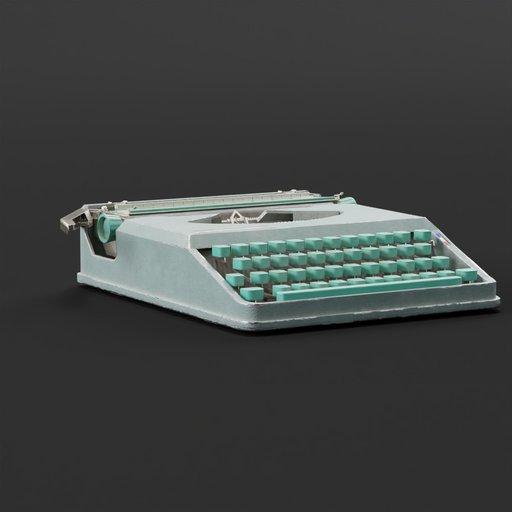 Thumbnail: Hermes baby typewriter teal