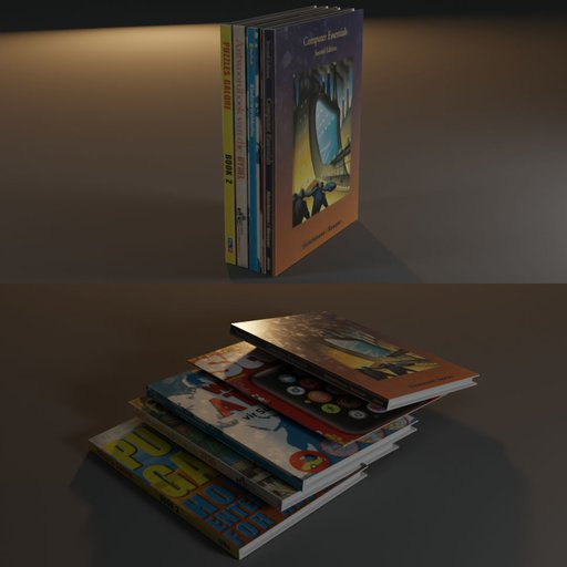 Thumbnail: Textured book stack (large)