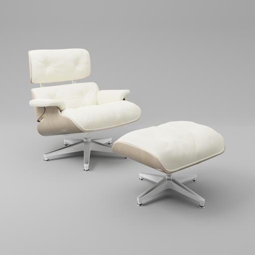 Thumbnail: Eames lounge chair white