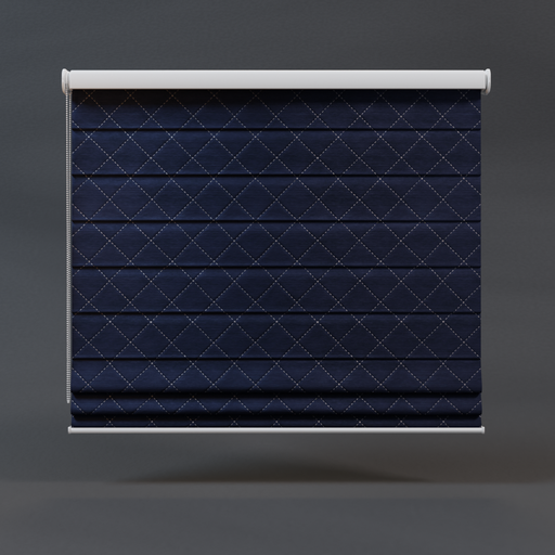 Roman blinds royal blue 01 full