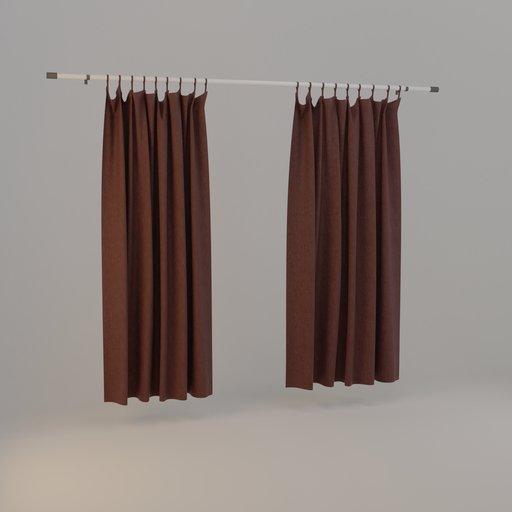 Thumbnail: Curtain maroon