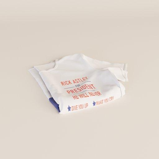 Thumbnail: Rick Astley t-shirt folded