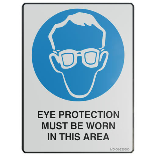 Thumbnail: Sign – Eye Protection Must be Worn in This Area.