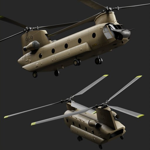 Chinhook CH-47 military helicopter