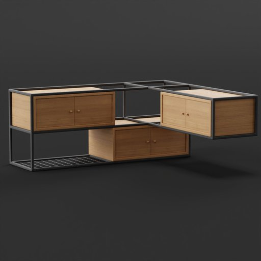 Thumbnail: Wall Mounted Rack Cabinet Storage Cupboard 140x130x58