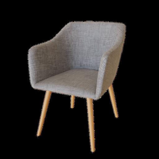 Thumbnail: Beautiful Gray Linen Armchair