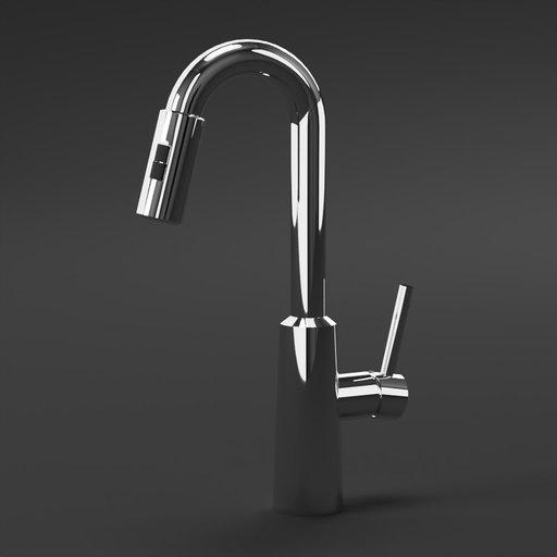 Thumbnail: Chrome moen faucet