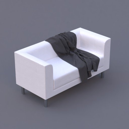 Thumbnail: favara II sofa white with a grey blanket