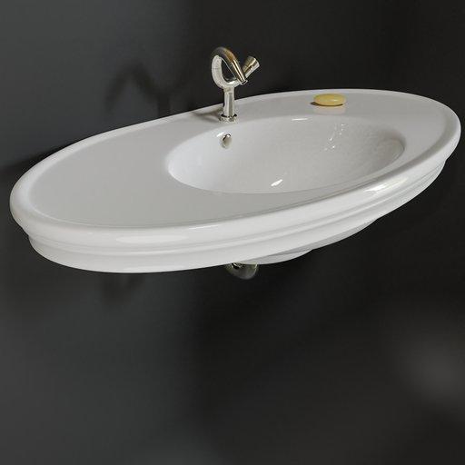 Thumbnail: Sink, vanity - White