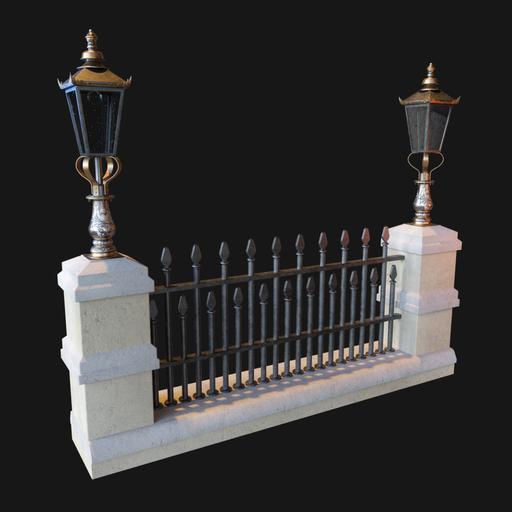 Thumbnail: Vintage Victorian Street fence