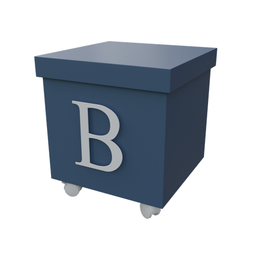 Thumbnail: Blue organizer box with casters-03