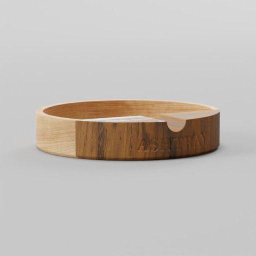 Wood Ashtray 10x10x2