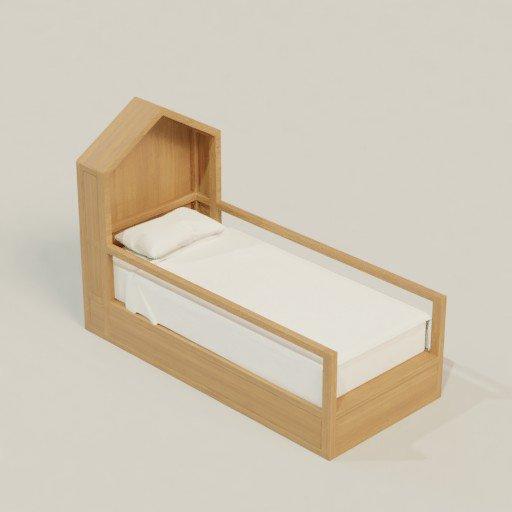 Thumbnail: Bed couch divan 100 X 220 X 150