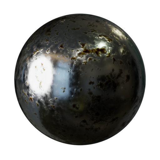 Thumbnail: Chrome with errosion - procedural