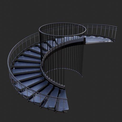 Thumbnail: Modern Spiral Stairs #06