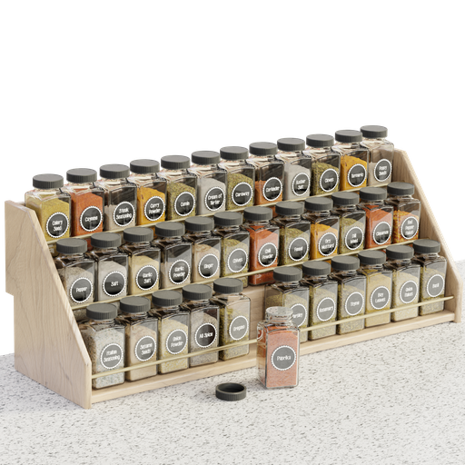 Thumbnail: Wood Spice Rack and Spices