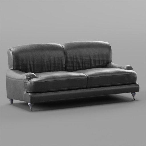 Thumbnail: Black Leather Sofa