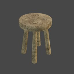 Thumbnail: Medieval wooden stool