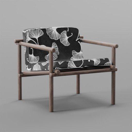 Thumbnail: Botanical Pattern Small chair 2