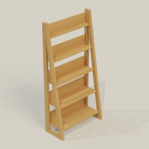 Thumbnail: Rack Shelving Bookcase 100 x 50 x 200