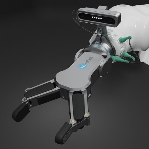 ON robot two finger gripper RG 6 v1.2 with eyes
