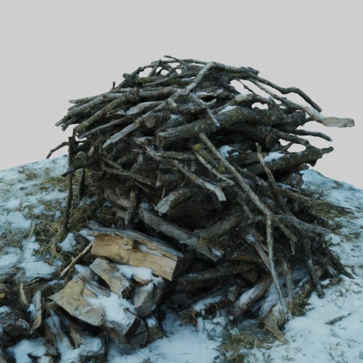 Thumbnail: Pile of Sticks in Some Snow