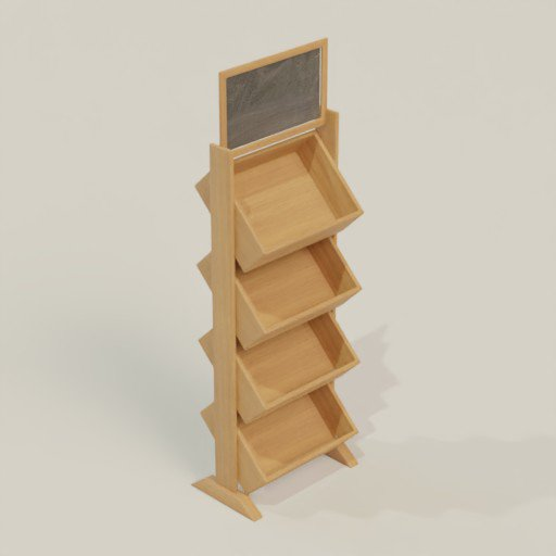 Thumbnail: Rack Shelving Bookcase 60 x 40 x 190