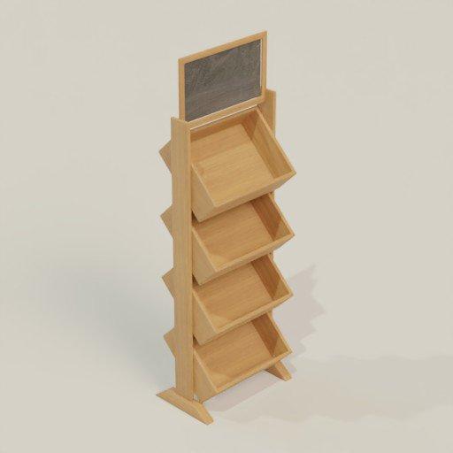 Thumbnail: Rack Shelving Bookcase 60 x 40 x 190
