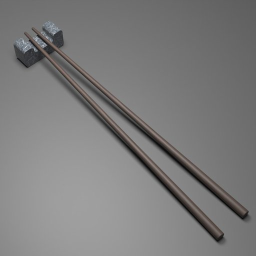 Thumbnail: Wooden Chopstick with Resting Rock