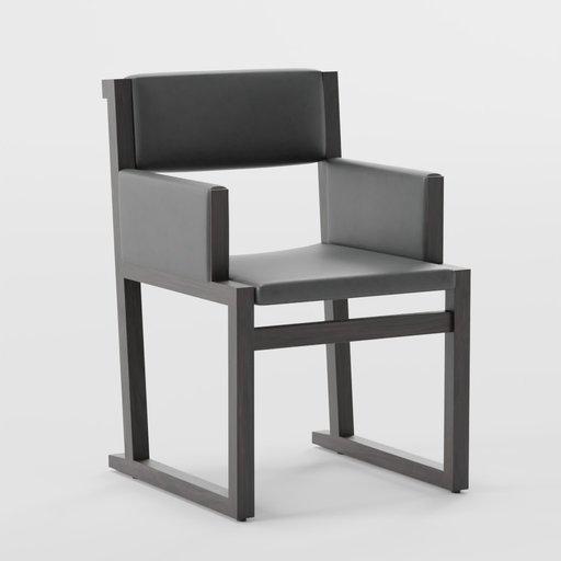 Thumbnail: Camerich Emily armchair - dark imitation leather