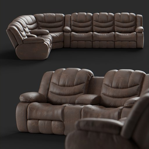 Thumbnail: Leather Sofa