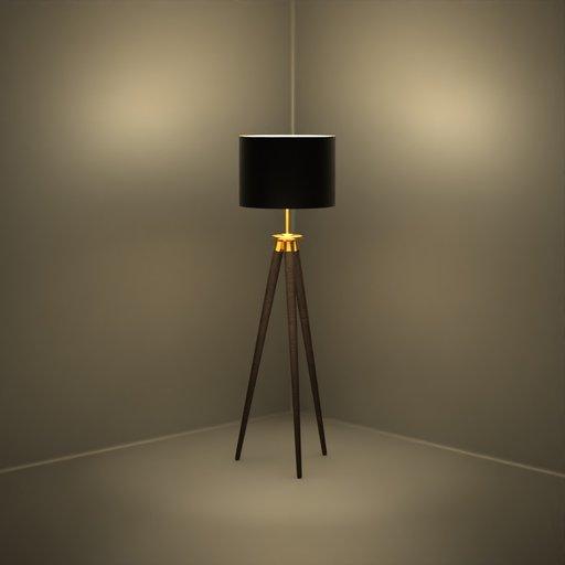 Thumbnail: Dark Wood Black Shade Lamp