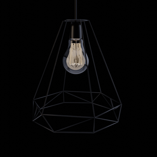 Diamond ceiling lamp