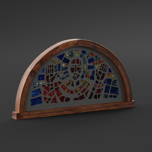 Thumbnail: Modern Stained Glass Window