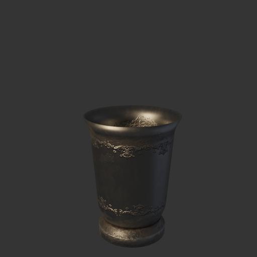 Medieval pewter cup