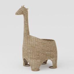 Thumbnail: Wicker basket giraffe