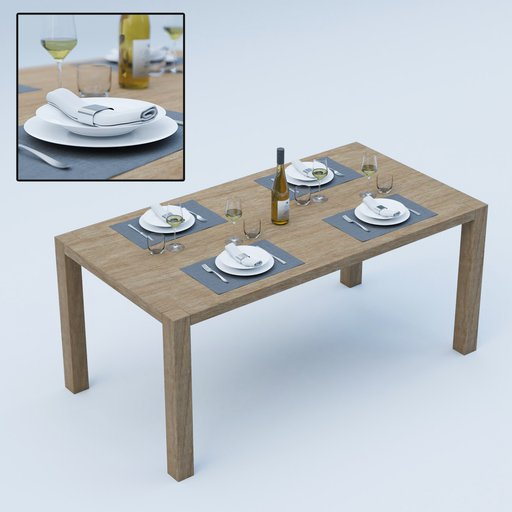 Laid Table with plates and glasses