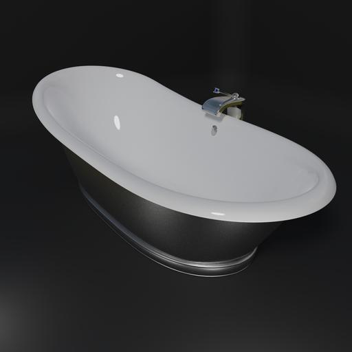 Thumbnail: Freestanding designer bathtub.
