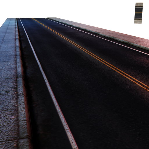 Thumbnail: Street Module 02 - Lowpoly - Straight street Minor