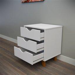 Thumbnail: White bedside table