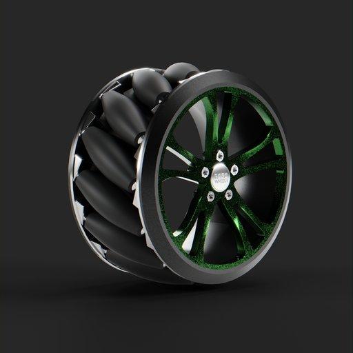 Thumbnail: Mecanum wheels for the self-propelled robot platform v.2