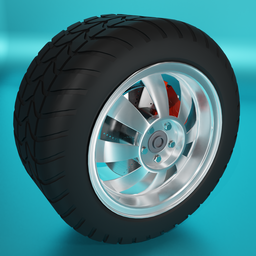 Thumbnail: Large car tire