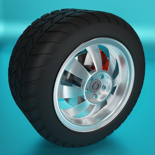 Thumbnail: Large car tire