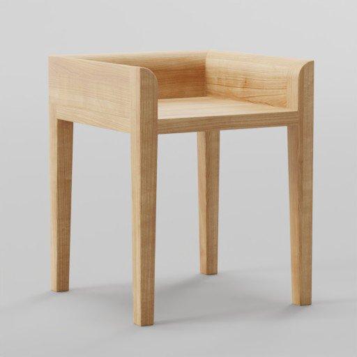 Thumbnail: Minimalist Design Wooden Chair 40x40x50